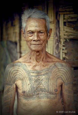 Tatouage traditionnel Kalinga des philippines