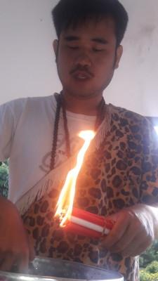 Le feu qui permet la magie du shamane poophu
